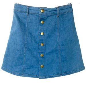 👗👖The Impeccable Pig Button Jean Mini Skirt Med